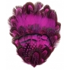 Feather Pad Pheasant 7X10cm Purple/Pink
